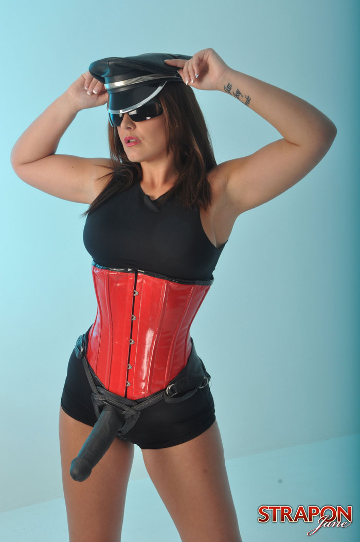 Strapon Jane Posing With Her Newest Femdom Friend at